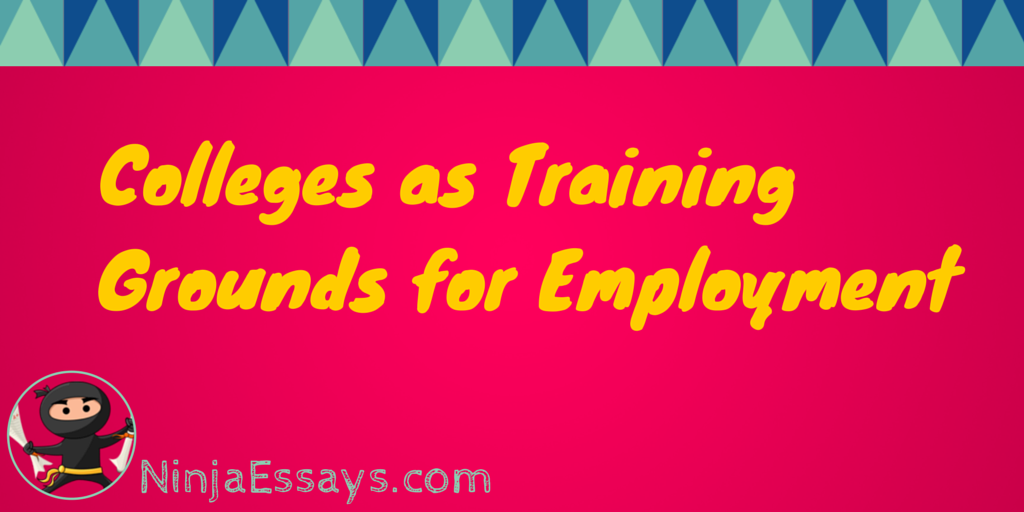 Colleges as Training Grounds for Employment